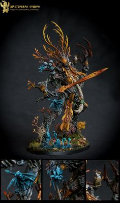 The Internet's largest gallery of painted miniatures, with a large repository of how-to articles on miniature painting Warhammer Wood Elves, Warhammer Figures, Warhammer Paint, Warhammer 40k Miniatures, Warhammer Fantasy, Warhammer Aos, Mini Paintings, Cool Paintings, Fantasy Figures