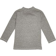 Mini boys grey roll neck top - baby boys tops - mini boys - boys