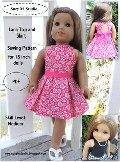 Lana Top and Skirt PDF AGD Size by suzymstudio on Etsy, $5.00