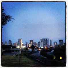 Out running. View of Honolulu.
