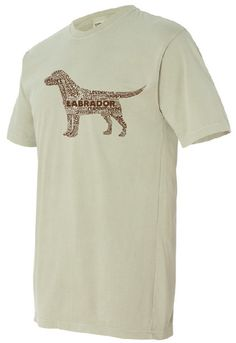 Chocolate Lab on Sand Colored T-shirt - Unisex