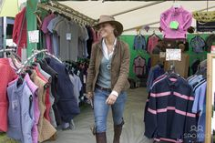 Kate Middleton, girlfriend of Prince William, does some shopping when she attends the second day of the Gatcombe Park Festival of British Eventing at Gatcombe Park, on August 6, 2005 near Tetbury, England