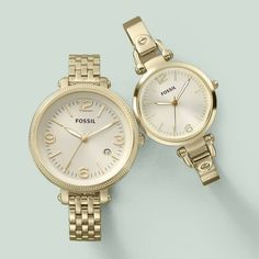 Montre pour femme : FOSSIL Watches for Women Ladies Gold-tone Watch | Free Shipping