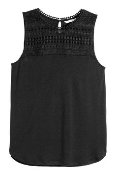 Sleeveless top   H&M - this is the newest addition to my wardrobe. I got both the black and the powdered beige colours.