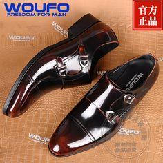 Cuero Genuino personalizados Novios Hebilla Zapatos de Vestir Zapatos Monje Verdadero Caballero Avanzada Diseñador Jefe de Marca de Lujo de Zapatos(China (Mainland))