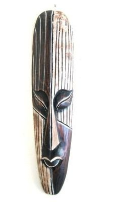 "African Mask Wall Hanging Africa Decor Modern Woman Art Deco - 20"" by World Bazaar Imports. $29.99. Contrasting colors and details. Fair Trade Item. Handcarved by skilled artisans. You will receive one of the two masks pictured, depending upon inventory.. Great for any Tribal or Tiki Decor. Materials: Wood Dimensions: Approx: 19""H x 4""W Handmade - Please allow for minor variations in color and style. You will receive one of the two masks pictured, depending upon ..."