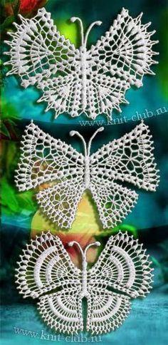 Patrón #816: Mariposas a Crochet | CTejidas [Crochet y Dos Agujas]