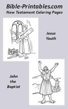 Bible Printables New Testament Coloring Page Sheets