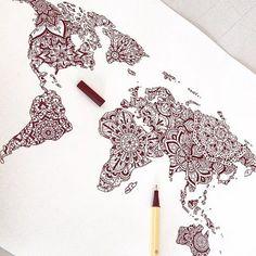Can't wait for it #art #draw #drawing #tattoo #tattoos #tattooed #tattooart #tattooedgirls #ink #inked #atlas #world #worlddrawing #map #worldmap #worldmaptattoo #inspiration #inkspiration #inkspiringtattoos #mandala #mandalaart #mandalatattoo #mandaladrawing #henna #hennaart #hennatattoo