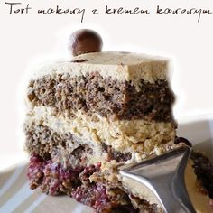 Polish Desserts, Polish Recipes, Sweet Recipes, Cake Recipes, Dessert Recipes, Torte Cake, Sweet Cakes, No Bake Cake, Vanilla Cake