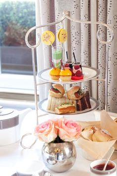 Lovin' the idea of a High Tea. This one is from the Langham Hotel's Palm Court in London. I should begin watching for plate stands.