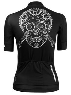 Skull Women s Black Cycling Jersey from Cycology Clothing 731e824a4