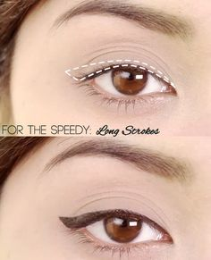 Easy Liquid Liner Techniques: Long Strokes