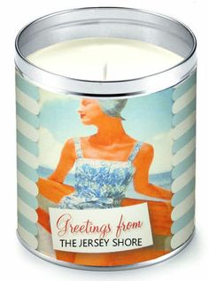 """Aunt Sadie's """"Greetings From The Jersey Shore"""" Candle (Suntan Lotion Scent)"""