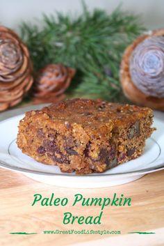 Paleo Pumpkin Bread is a delicious, healthy breakfast, snack, or ...