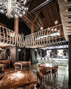 Aydınlatma ve Dekor Dünyasından Gelişmeler: Yellow Office Architecture'dan Craiova'da Smart Pub Aydınlatma #aydinlatma #lighting #design #tasarim #dekor #decor