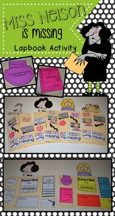 Are you looking for a book companion for the picture book Miss Nelson is missing? The file includes four different designs for students to pick which character(s) they would like to feature. Inside, students will answer comprehension questions about Miss Nelson is Missing, create beginning, middle and end flipbook, describe the characters with a tab book, a writing response prompt, a making connections stacked book, and inference activity with Viola's rules.