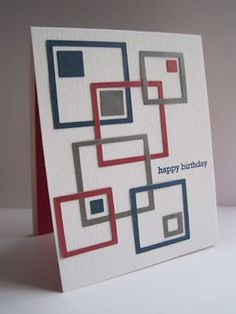 masculine card...would be great with school colors for graduations