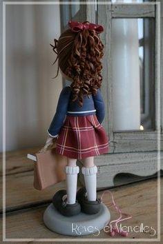 Hair curls porcelana fria polymer clay