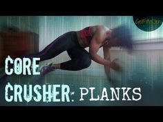 CORE CRUSHER: Planks! | At-home Exercises - YouTube