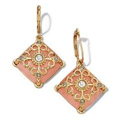 Belle and Blush Square Earrings    To shop, visit me at: http://www,youravon.com/mferguson1172