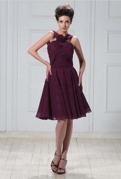 Discount Chiffon A-Line Short Bridesmaid Dress Free Measurement