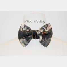 "Jay Nicole's Bows Pre-tied Cotton x Tiger #fur  ""Boston Tea Party"" Adjustable strap #jaynicolesbows #bowties #designerjaynicole www.shopjaynicole.com #fashion #mensfashion #womensfashion"
