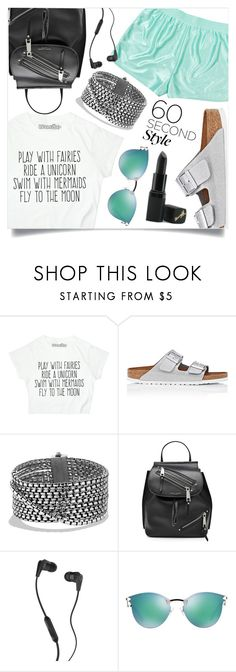 """60-Second Style: Insta-Ready"" by marina-volaric ❤ liked on Polyvore featuring Monki, Birkenstock, David Yurman, Marc Jacobs, Skullcandy, Fendi, Barry M, 60secondstyle and PVShareYourStyle"