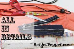 Serger Pepper - Refashion Frugal Tip - All in details