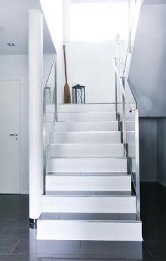 Kiva pinnoitus portaissa/valkoinen Tallit, Stairways, House Plans, How To Plan, Home Decor, Stairs, Staircases, Decoration Home, House Plans Design