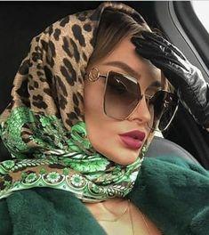 Head Scarf Tying, Rockabilly Cars, Head Scarf Styles, Img Models, How To Wear Scarves, Leather Gloves, Silk Scarves, Hijab Fashion, Headscarves