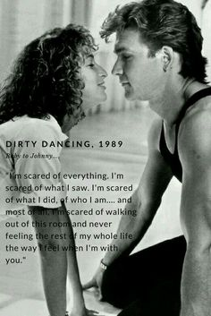 Dirty Dancing 1987 Patrick Swayze and Jennifer Grey Patrick Swayze, Dirty Dancing Quotes, Dance Quotes, Beau Film, Alvin Ailey, Iconic Movies, Old Movies, Mean Girls, Princess Diana Photos