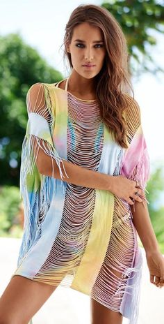 PilyQ Romance Tie Dye Monique Cover Up $120 SHIPS FREE or PICK UP IN SANTA MONICA * BEST PRICE GUARANTEED * PURCHASE HERE: http://piermart.com/pilyq-romance-tie-dye-monique-cover-up-120-ships-free/