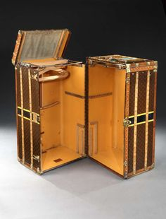 Double 'Malle Armoire' by Louis Vuitton   From a unique collection of antique and modern trunks and luggage at https://www.1stdibs.com/furniture/more-furniture-collectibles/trunks-luggage/