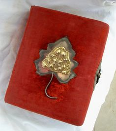 Victorian Album w/ Decorative Pages for Cabinet Cards by glassing