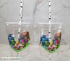 Clash of Clans Birthday Party Cups Favors 12pc by FestiveCupboard