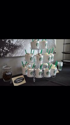 Starbucks themed party to celebrate the completion of my new coffee lounge! I cant wait!!!!