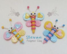 Libelulas cute en porcelana fria / Cute Dragonfly in polymer clay