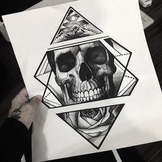 Skull drawings for tattoos - tattoo ideas drawing . - Skull drawings for tattoos – tattoo ideas Drawings of … – Skull Tattoo Designs - Tattoo Designs, Skull Tattoo Design, Tattoo Design Drawings, Skull Design, Skull Tattoos, Body Art Tattoos, Skull Drawings, Tattoo Sketch, Tattoo L
