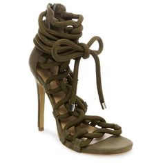 Women's Wild Pair Missme Knotted Tie Front Gladiator Sandals