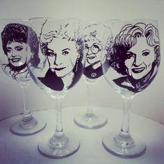 Golden girls wine glasses