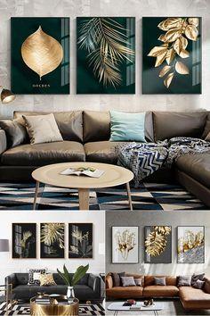 Art Deco Living Room, Living Room Plants, Living Room Canvas, Paintings For Living Room, Rooms Home Decor, Room Wall Decor, Luxury Home Decor, Nordic Interior Design, Estilo Tropical