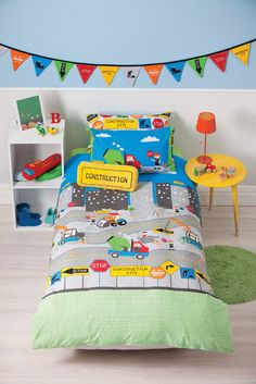 CUBBY HOUSE KIDS UNDER CONSTRUCTION Boys Single Bed Doona | Quilt Cover Set NEW in Home & Garden, Bedding, Quilt Covers | eBay