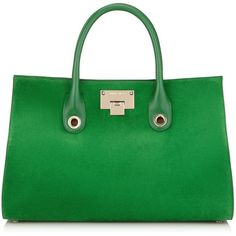 Jimmy Choo RILEY Kew Shimmer Suede Tote Bag (17 530 ZAR) ❤ liked on Polyvore