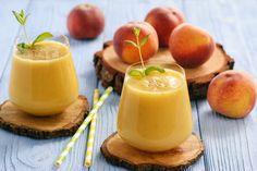 3 peach recipes for salads, smoothies, dessert and Mango Wine, Mango Martini, Superfood, Wine Slush, Peach Wine, Ginger Peach, Frozen Cocktails, Slushies, Vanilla Flavoring