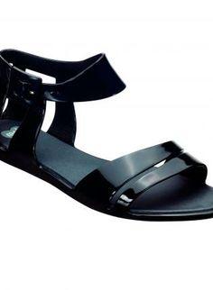 Black Sandals - Mel Macadamia Black Jelly Sandals