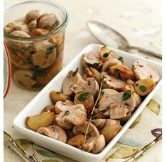 """For Recipe: CLICK on PIC and when taken to 2nd pic click again..ROASTED GARLIC MARINATED MUSHROOMS...Recipe by George Stella... ...For tons more Low Carb recipes visit us at """"Low Carbing Among Friends"""" on Facebook"""