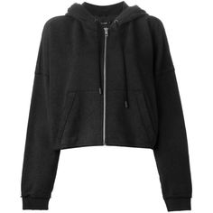 Rag & Bone cropped oversized hoodie ($300) ❤ liked on Polyvore featuring tops, hoodies, jackets, outerwear, sweaters, black, cotton crop top, oversized hoodie, black hoodie and cotton hooded sweatshirt