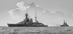 HMS Hood and Repulse. Never get tired of looking at these beauties.