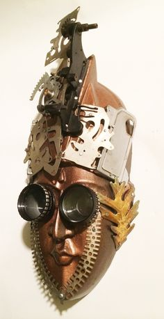 """Desperate Times"" found object assemblage Mask by Assemblique™"